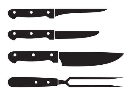 metal knife: Kitchen knives Illustration