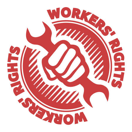 workers  rights Vector