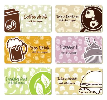 coupon: Die Etikettierung von Lebensmitteln und Coupons Illustration