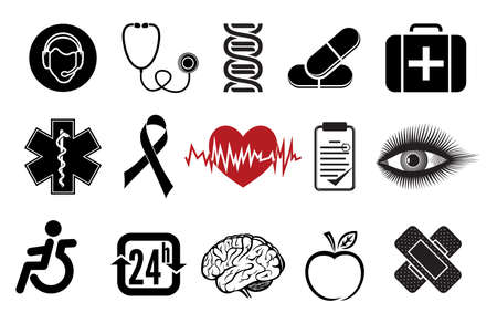medical icons Stock Vector - 20504033