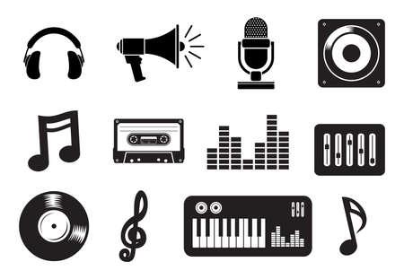 Music icons Vektorové ilustrace
