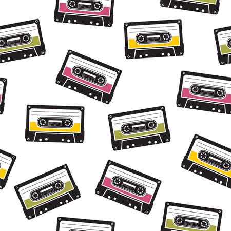 audiotape: cassette tape pattern Illustration