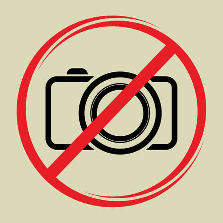 restrictions: No camera sign Illustration
