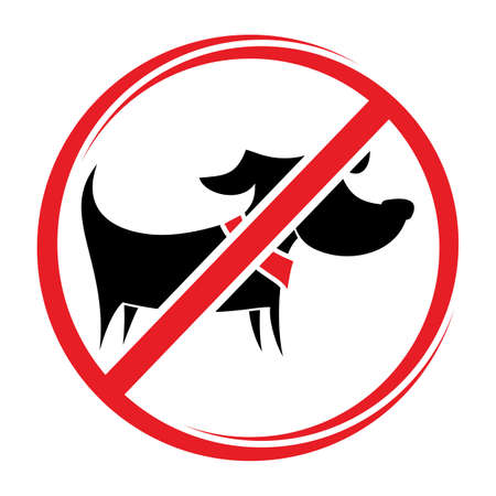 No dogs sign, do not allowed Stock Vector - 20504261