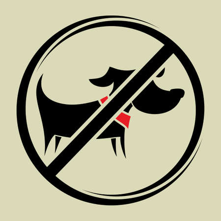 No dogs sign, do not allowed Vector