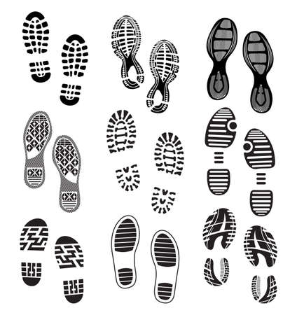 running shoes: the collection of a imprint soles shoes