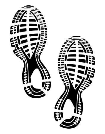 Aufdruck Sohlen Schuhe - Turnschuhe Vektorgrafik
