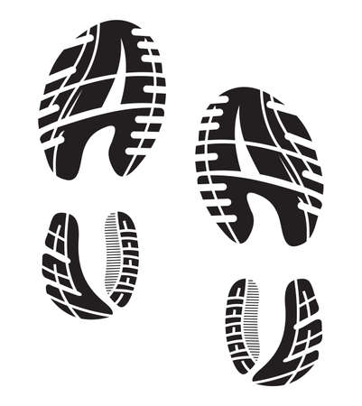 trail: imprint soles shoes - sneakers