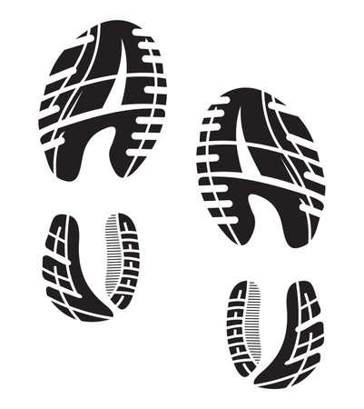 Semelles de chaussures empreinte - Sneakers Banque d'images - 20504179