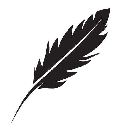 quill pen: feather