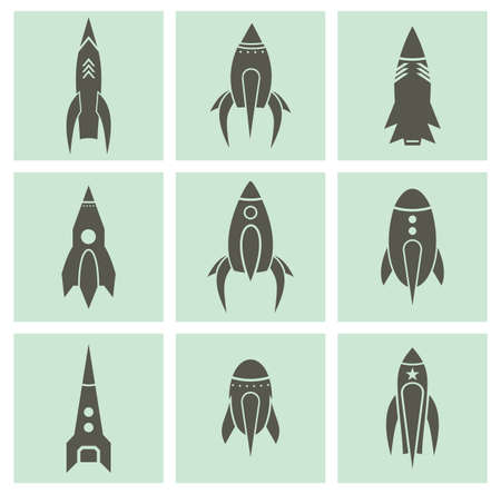 astronauts: Rocket icons