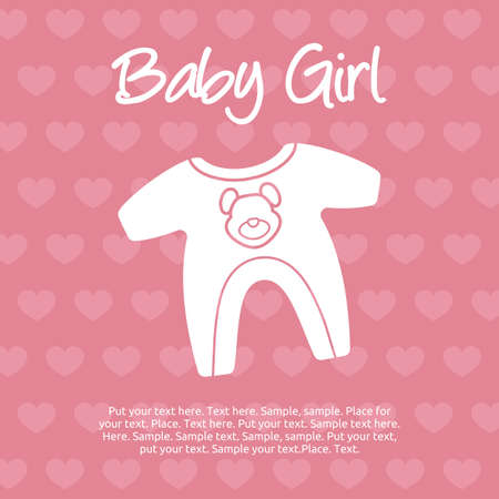 baby background: baby girl card
