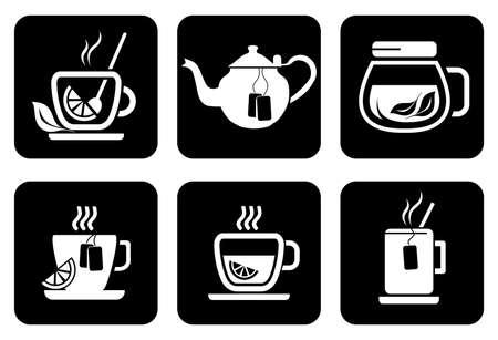 teabag: Tea icons set