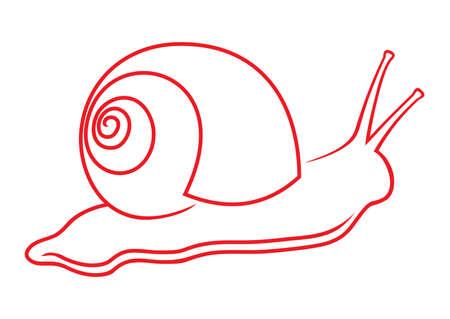 babosa: caracol Vectores
