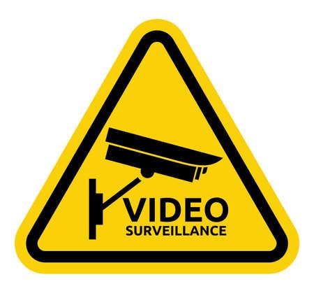 Video surveillance sign Stock Vector - 20504349