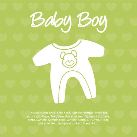 baby boy card Stock Vector - 20503981