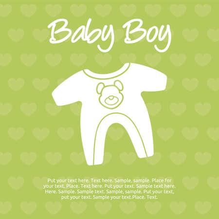 baby boy card Stock Vector - 20503981