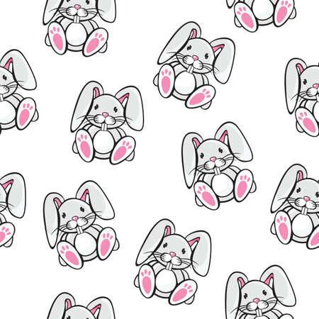 rabbit silhouette: Rabbit pattern Illustration