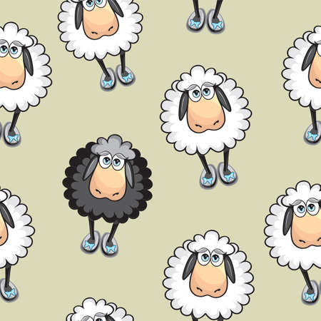 cartoon sheep: Sheep Seamless pattern Illustration