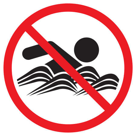 No Swimming sign Vector
