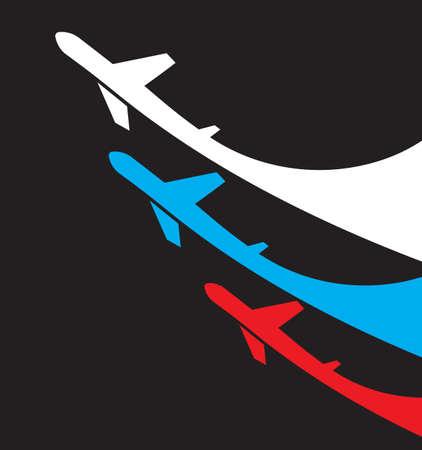 航空ショー: 航空機のロシアの背景  イラスト・ベクター素材