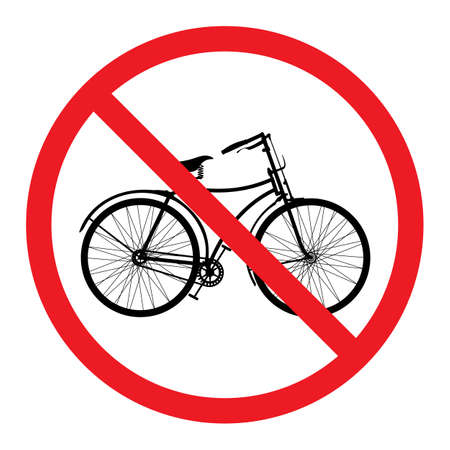 no bicycle Vector