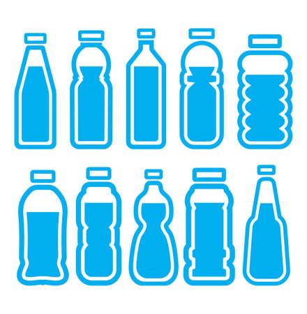 Juego de botellas de plástico Foto de archivo - 22362831