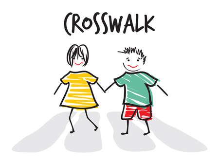 cross walk: cross walk illustration