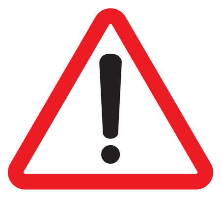 warning signs: attention sign with exclamation mark symbol