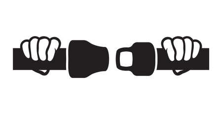 cinturon seguridad: Abr�chense los cinturones de seguridad icono