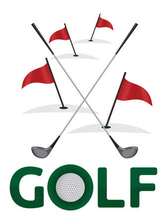 Golf poster template Vector