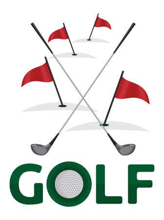golf tee: Golf poster template