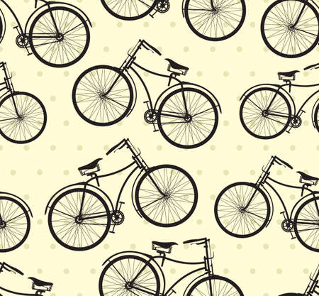 Retro bike pattern Vector