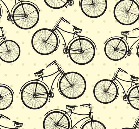 of yesteryear: Retro bike pattern