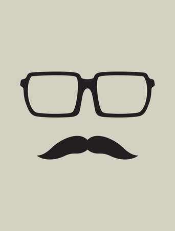 rogue: Hipster template  Nerd glasses and mustaches