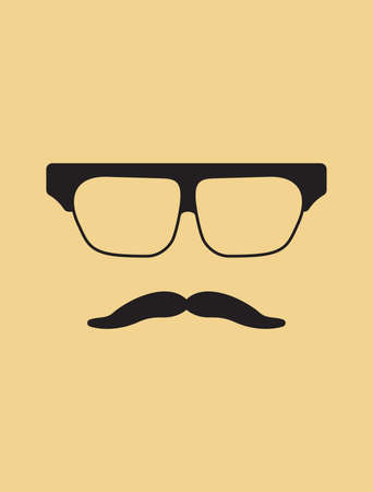 goatee: Hipster template  Nerd glasses and mustaches
