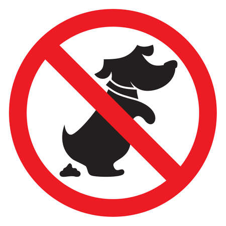 no dog poo sign Vector