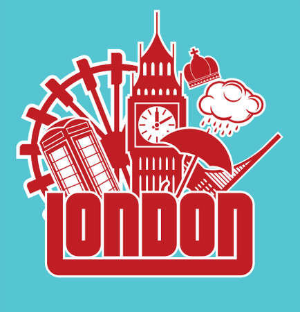cabina telefonica: Londres Vectores