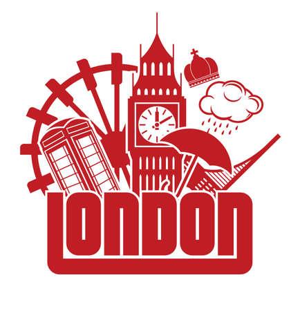 cabina telefono: Londres Vectores