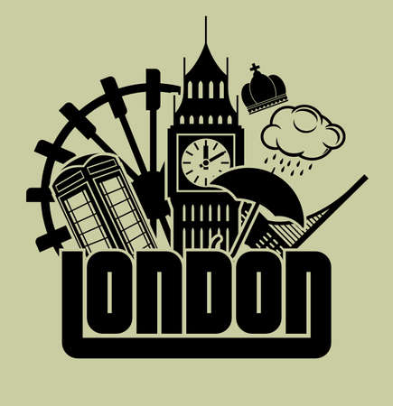 bus anglais: Londres Illustration