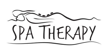 massage symbol: Spa therapy template