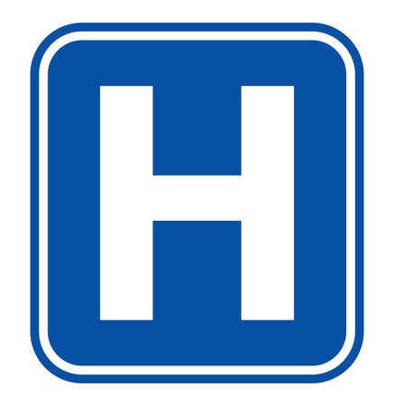 text room: Hospital sign