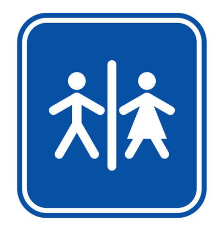 man and women wc sign: Man and women WC sign