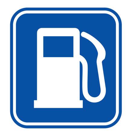 tanque de combustible: gas de la estaci?n de se?al Vectores
