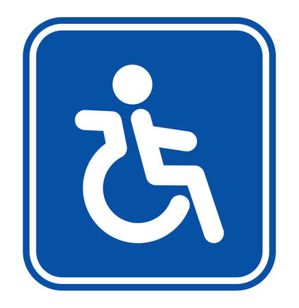 wc: Behinderung oder Rollstuhl Person Symbol Illustration