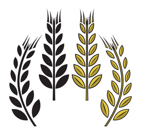 rice plant: wheat icon