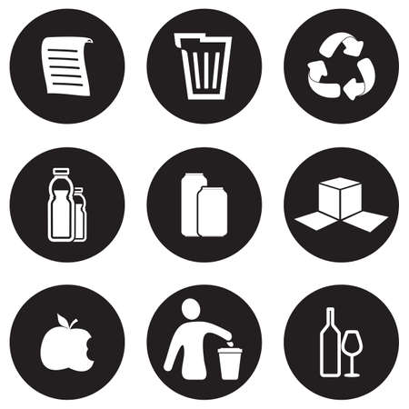 reprocess: Recycling icon set Illustration