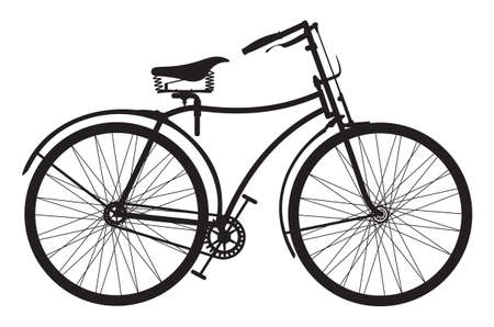 Retro bike Vettoriali