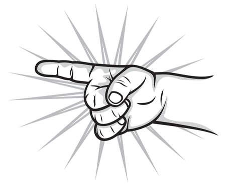 finger index: kid finger pointer