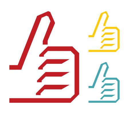 thumbs up icon: pulgares ok hasta el icono Vectores